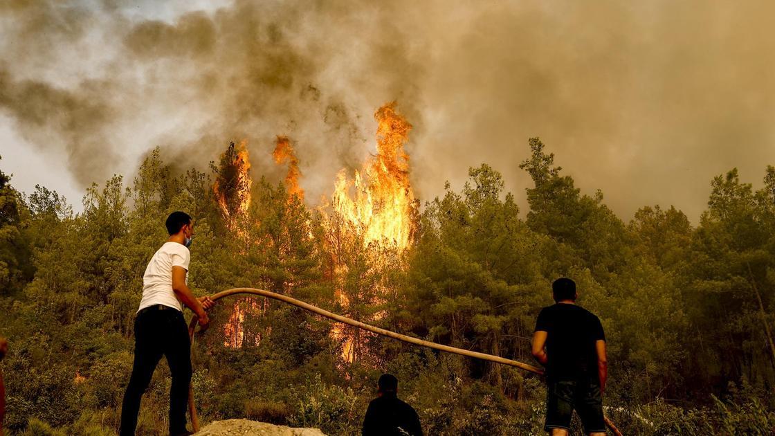 Тушение пожара в Манавгате