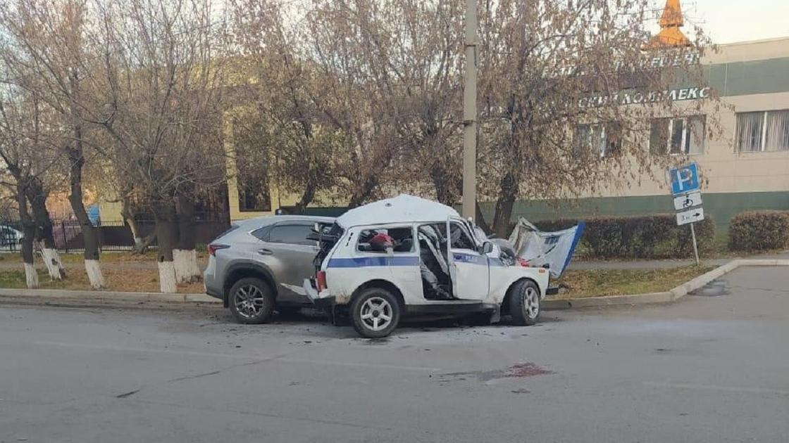 ДТП в Щучинске с участием полицейского авто