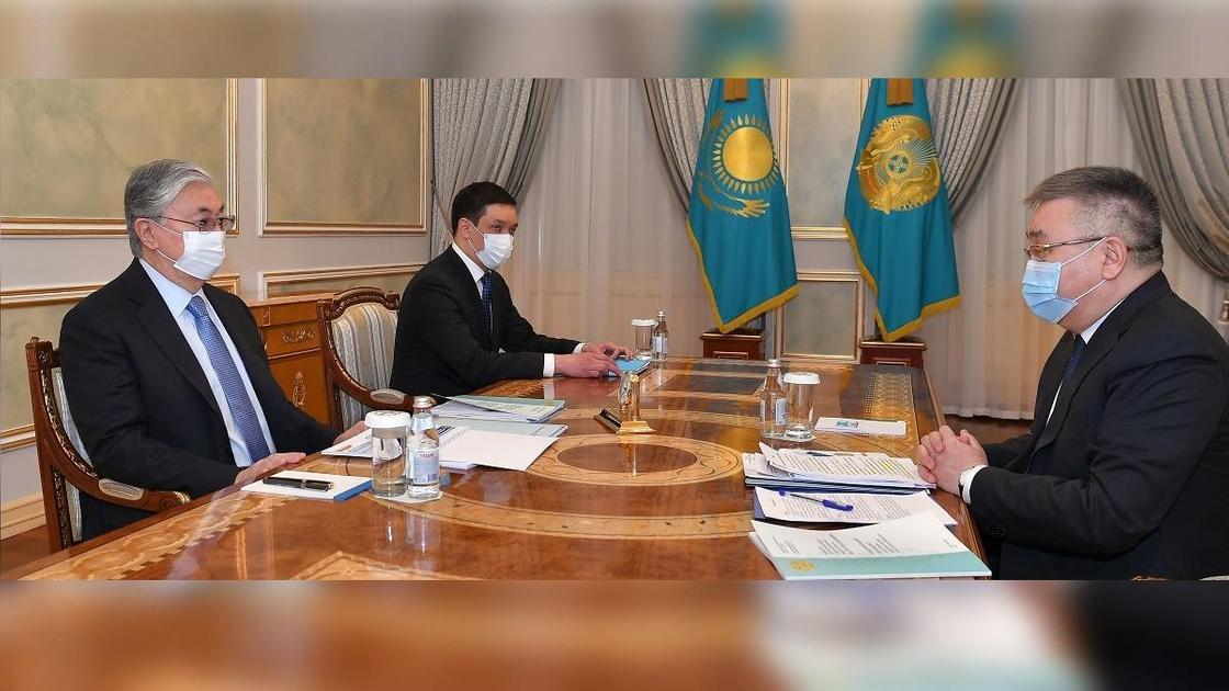 Касым-Жомарт Токаев и Талгат Донаков