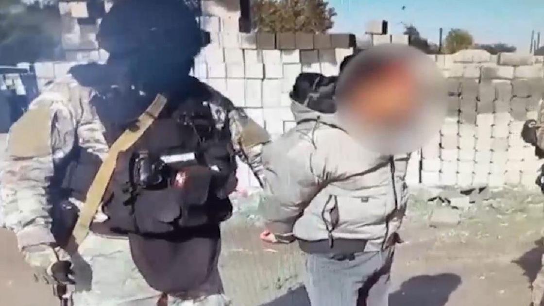 Задержание подозреваемого в Алматинской области