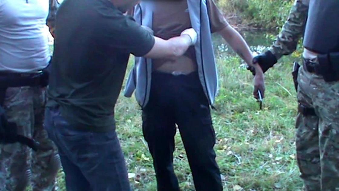 Задержание подозреваемого в Усть-Каменогорске