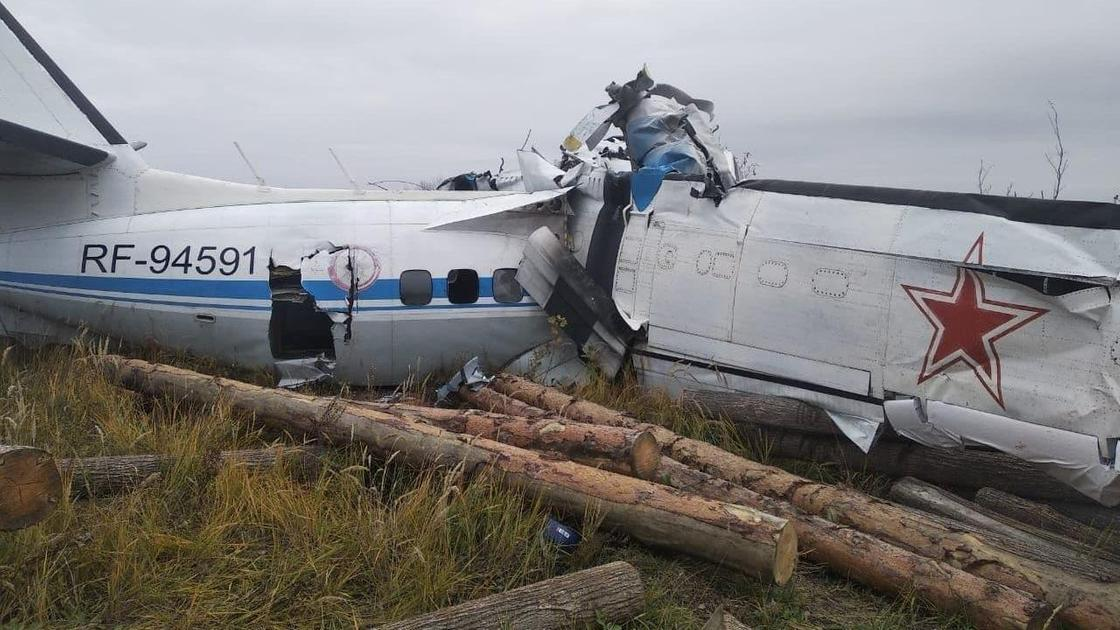 Упавший самолет в Татарстане