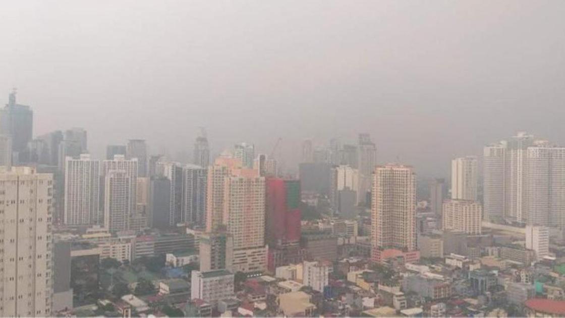 Манила после извержения вулкана Таал