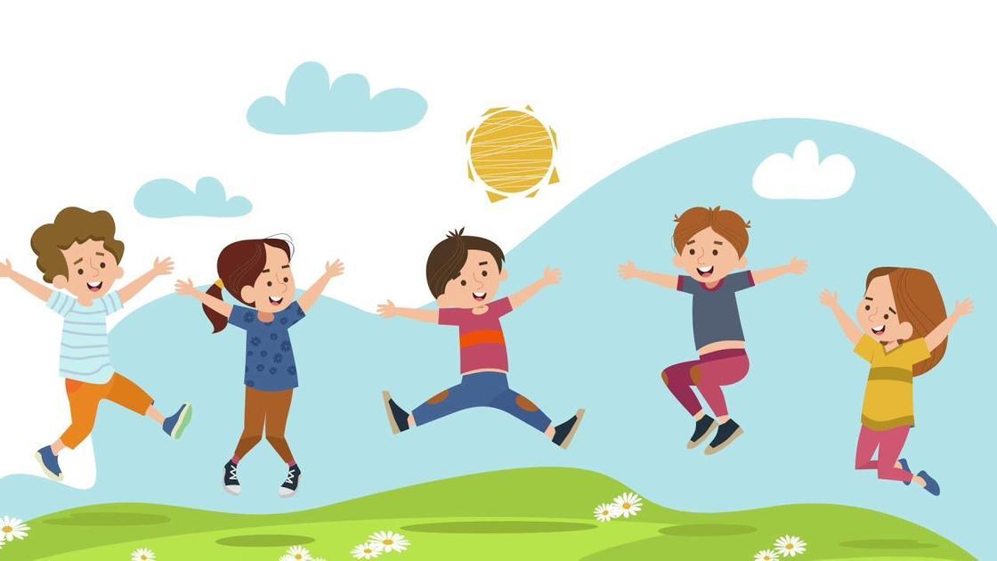 Дети играют и веселятся