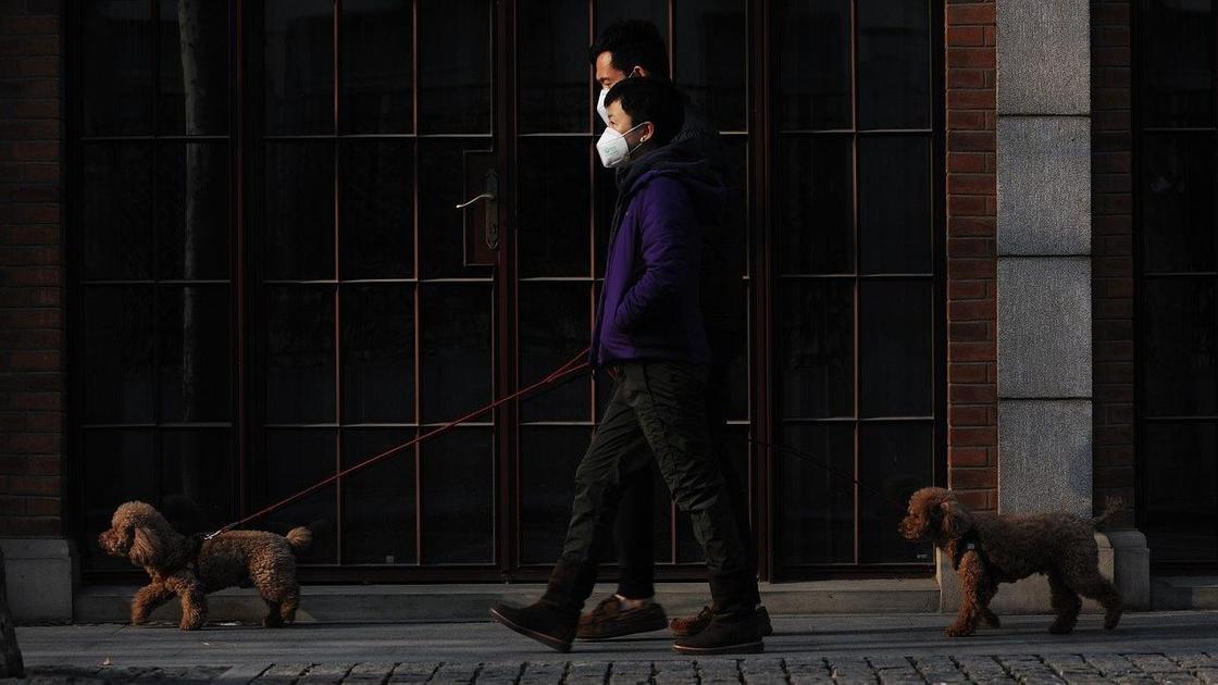 Люди в масках на улице