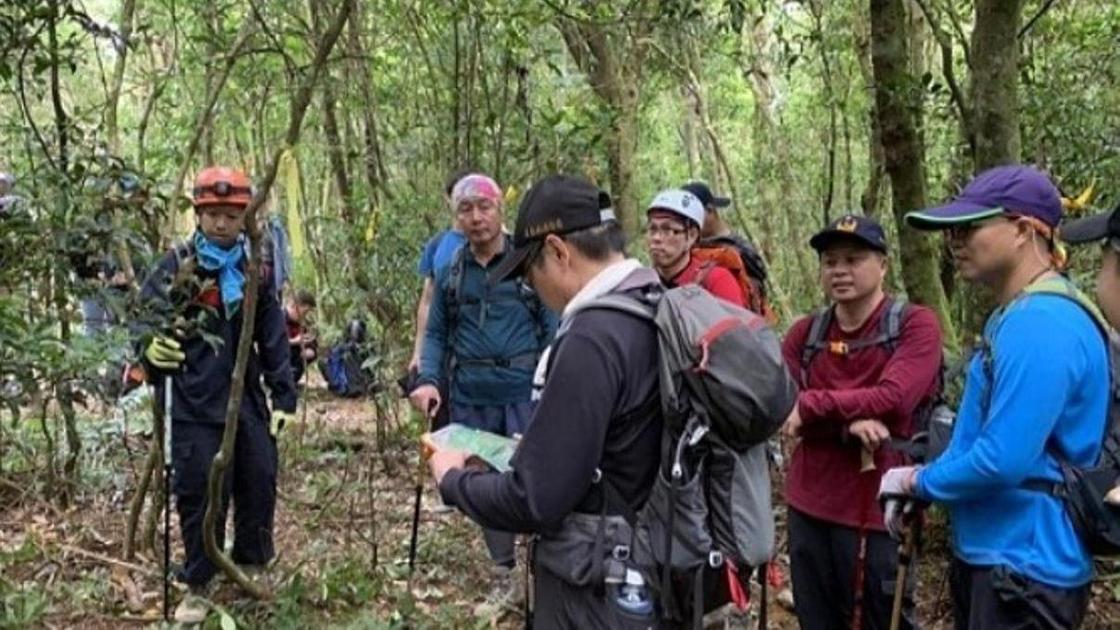 поисковая группа в лесу