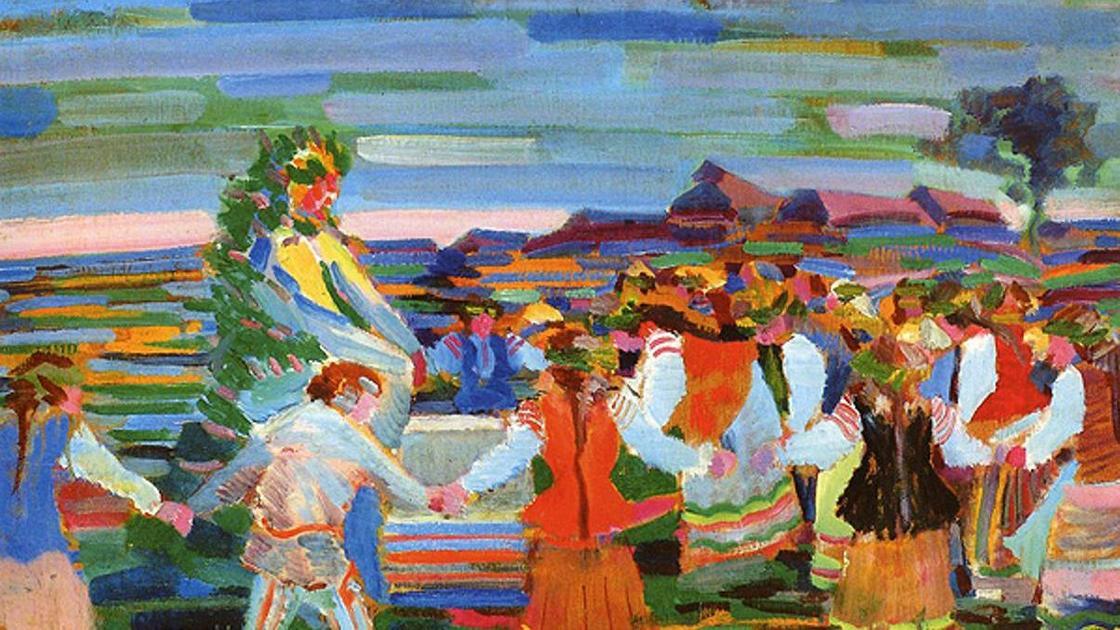 люди танцуют (рисунок)