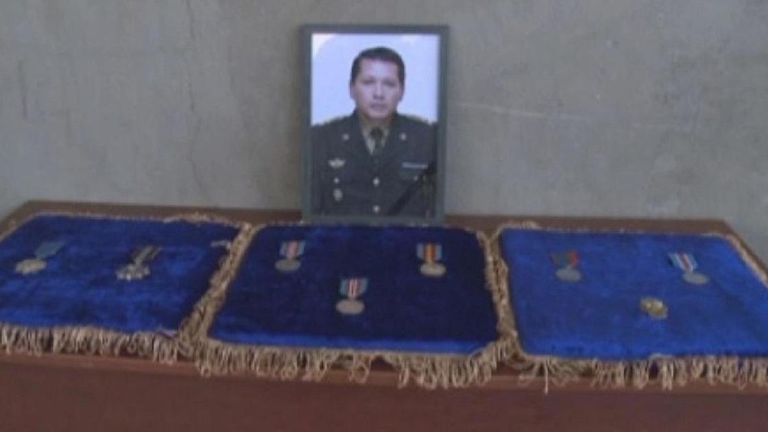 Портрет и медали Меиржана Айманова