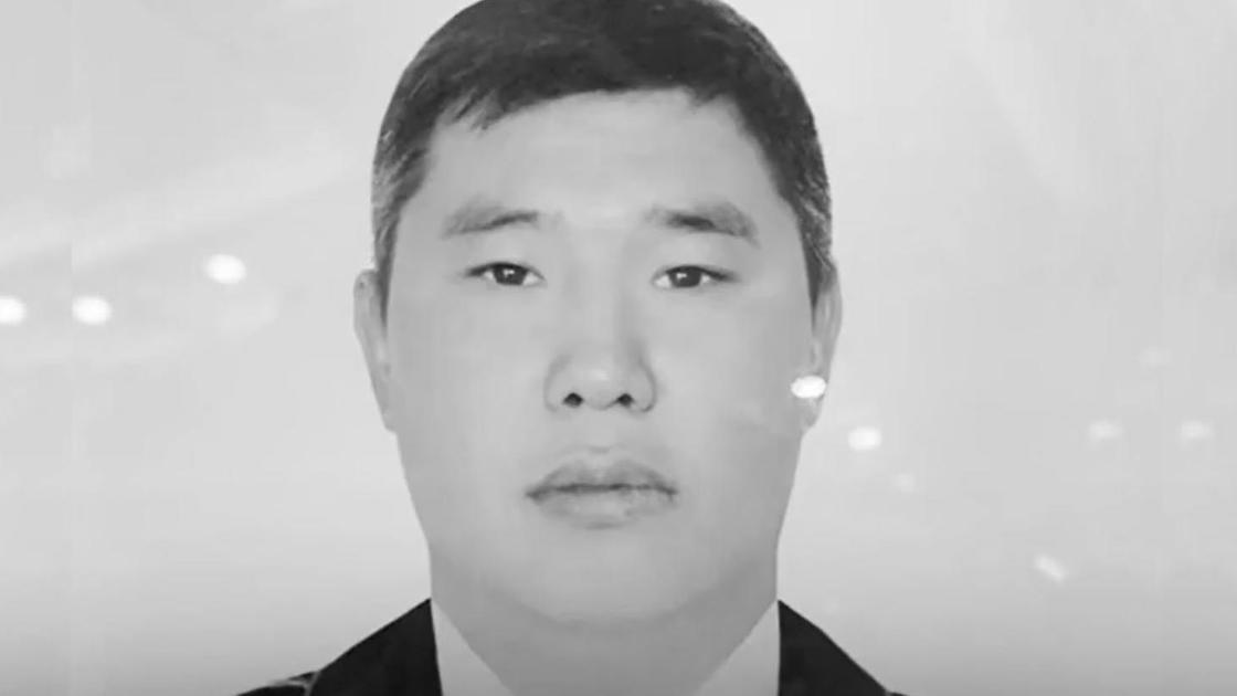 Погибший в Алматы полицейский Нурбол Байгазиев