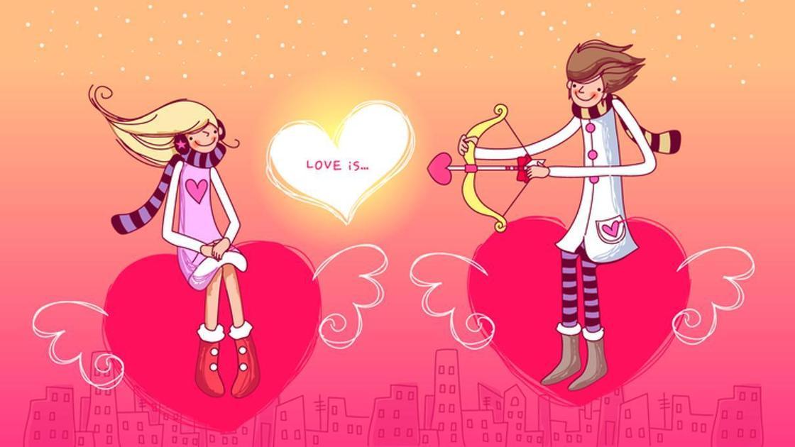 День святого Валентина. Открытка с юмором