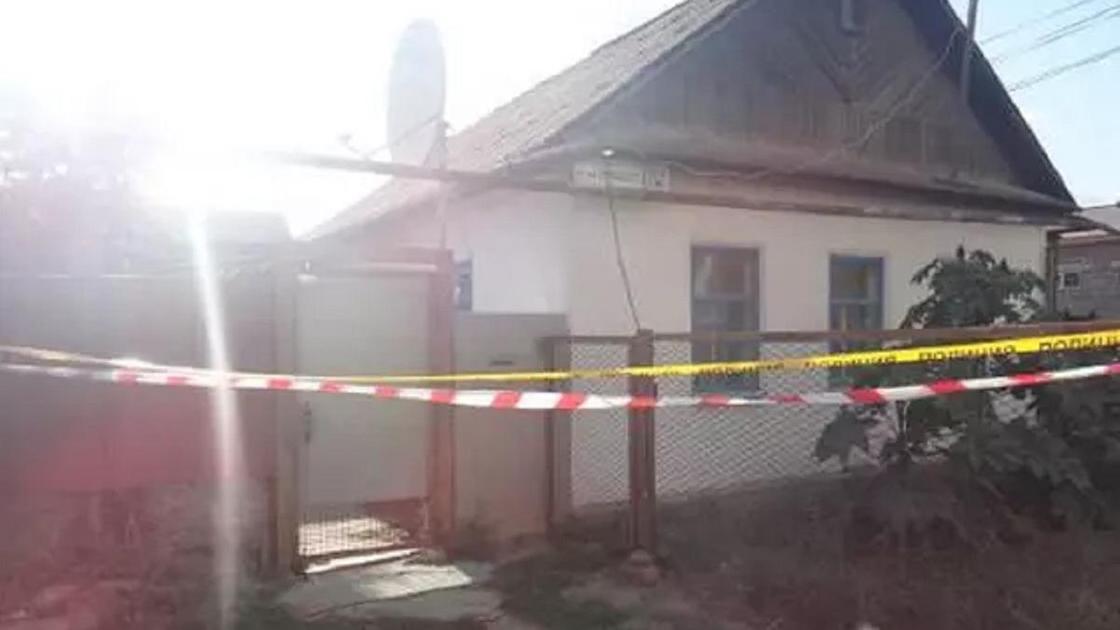 Дом в Уральске, где произошло убийство