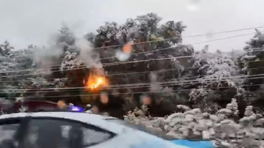 Электропровода горят в Алматы