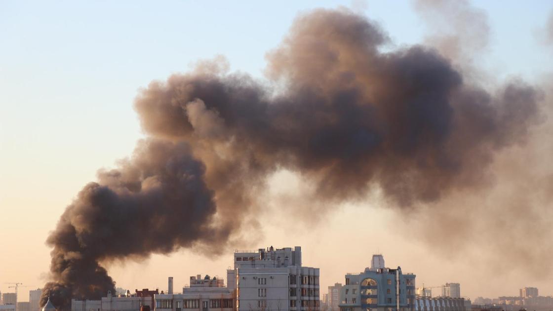 Дым от взрыва