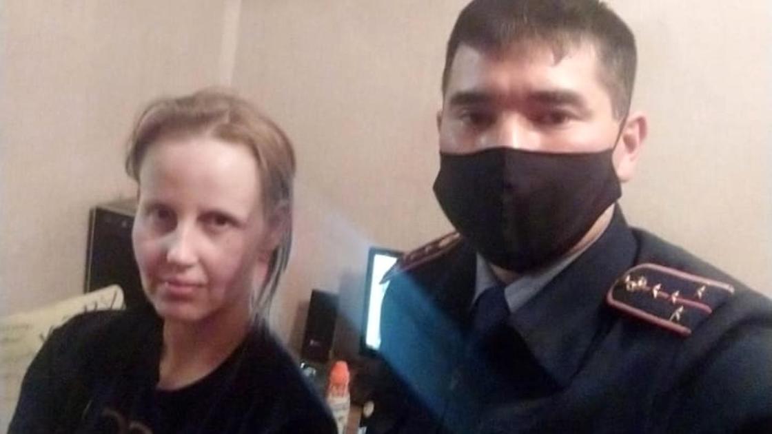 28-летняя жительница Нур-Султана и полицейский Талгат Исатаев