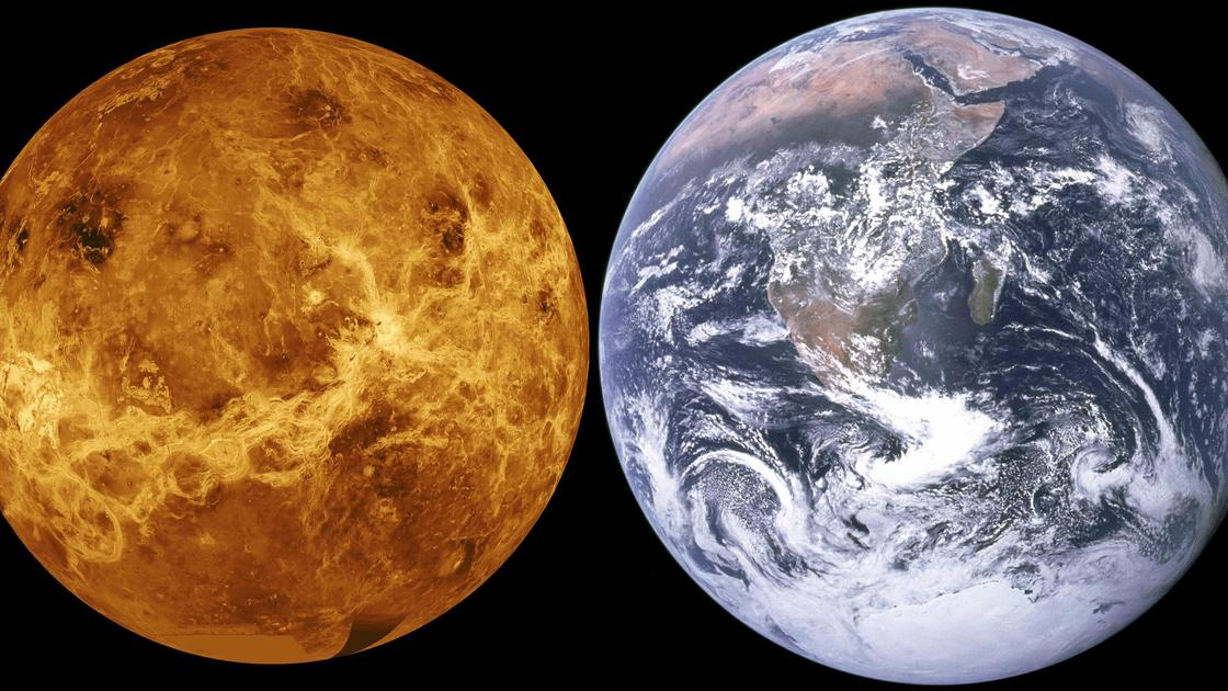 Планета Венера и планета Земля