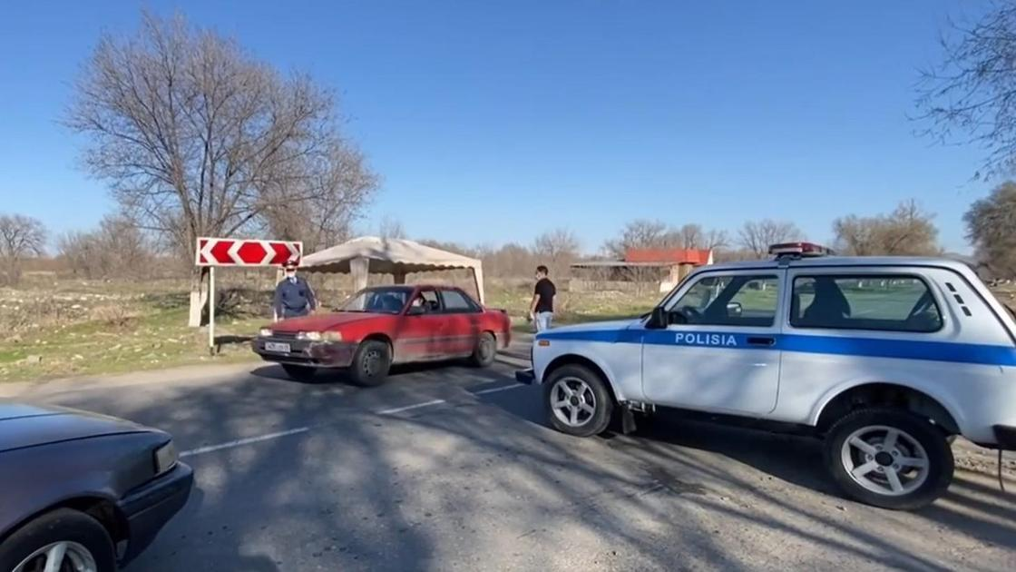 Блокпосты в Алматинской области