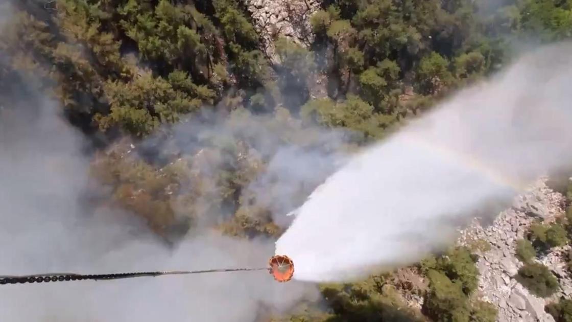 Тушение пожара в Турции