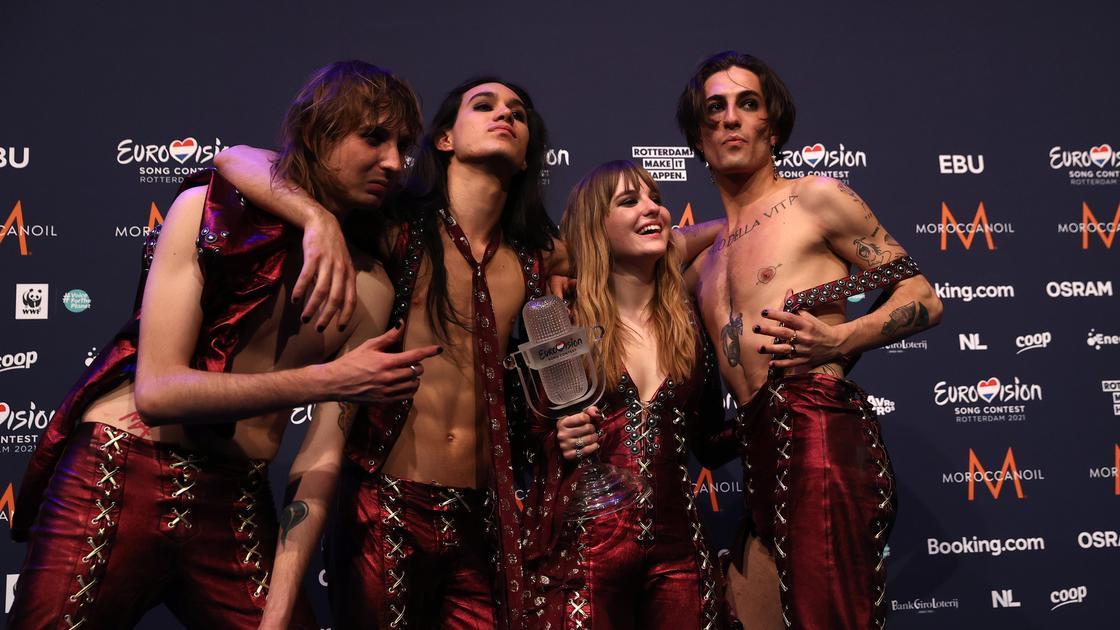 Итальянская рок-группа Måneskin
