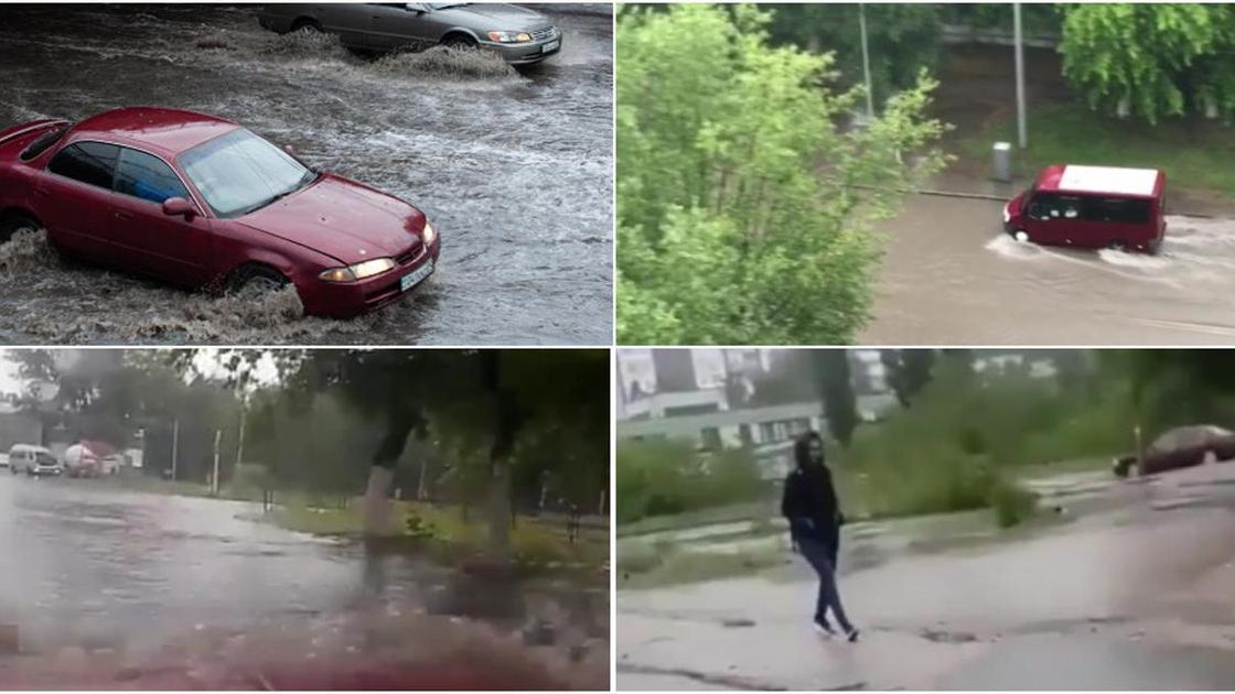 Павлодар затоплен дождями
