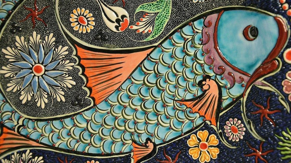 Иллюстрация знака зодиака Рыбы