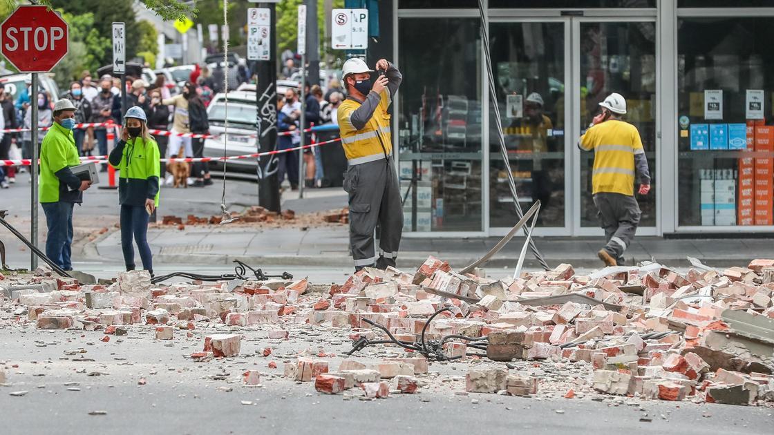 Последствия землетрясения в Мельбурне