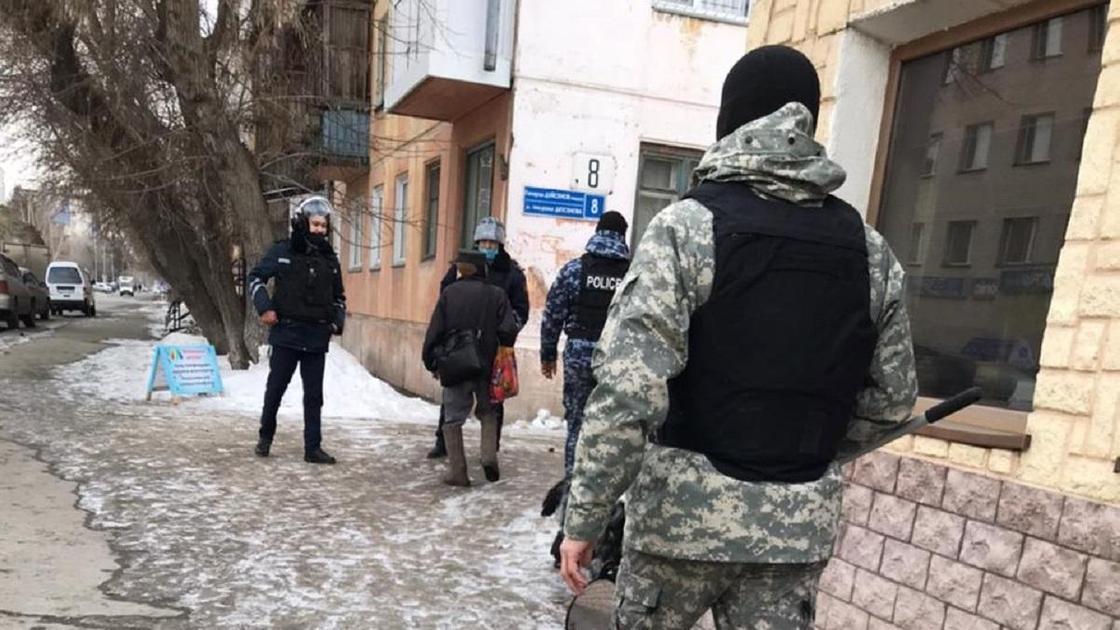 Оцепление в Павлодаре