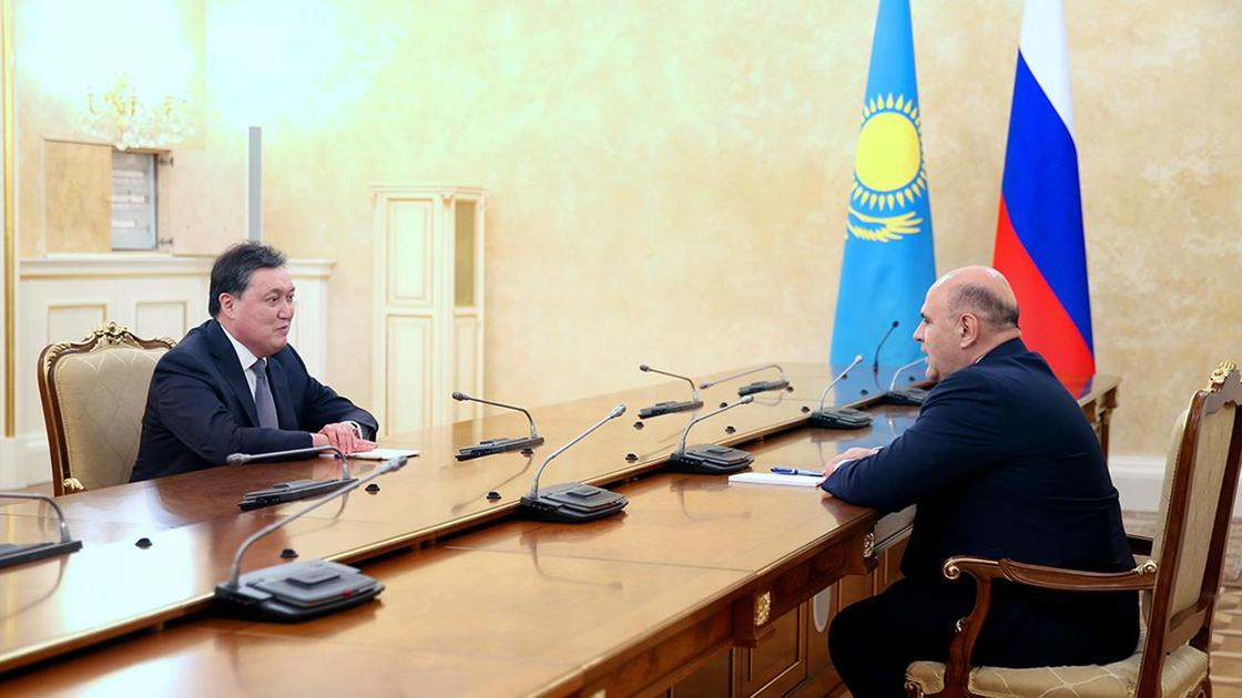 Аскар Мамин и Михаил Мишустин встретились в Москве