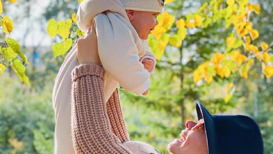 Татьяна Бруханова с сыном Ваганом