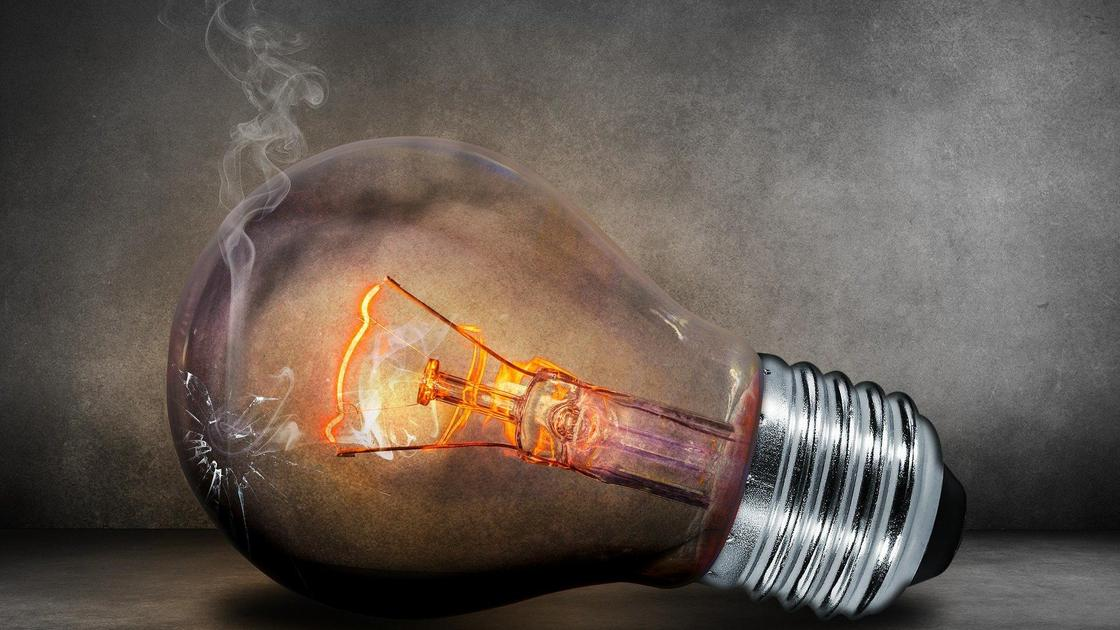 электрическая лампочка сгорела