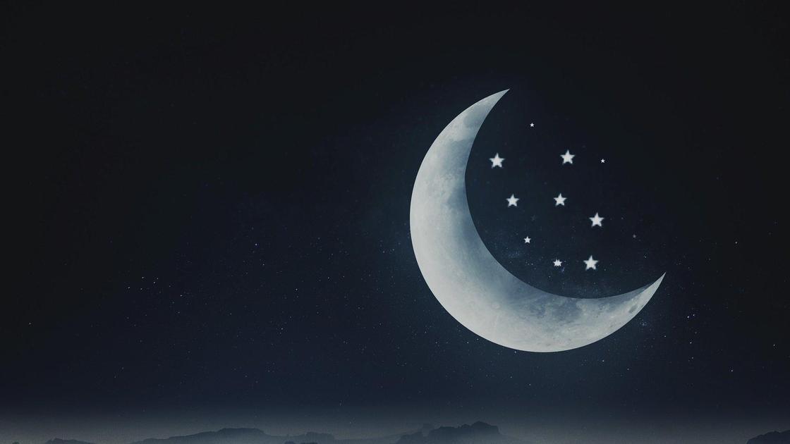 лунный пейзаж (рисунок)
