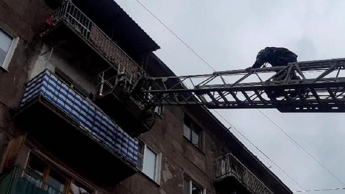 Пожар в Караганде