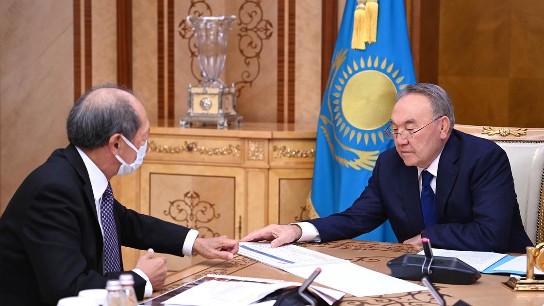 Нурсултан Назарбаев и Шигео Катсу