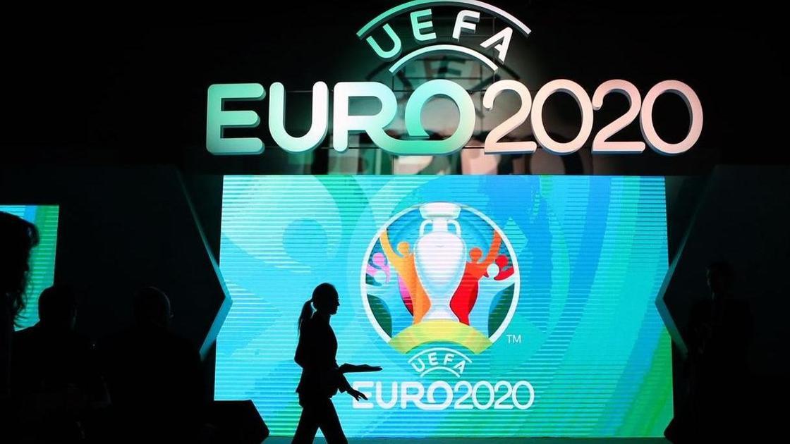 лого Евро-2020 и силуэт женщины