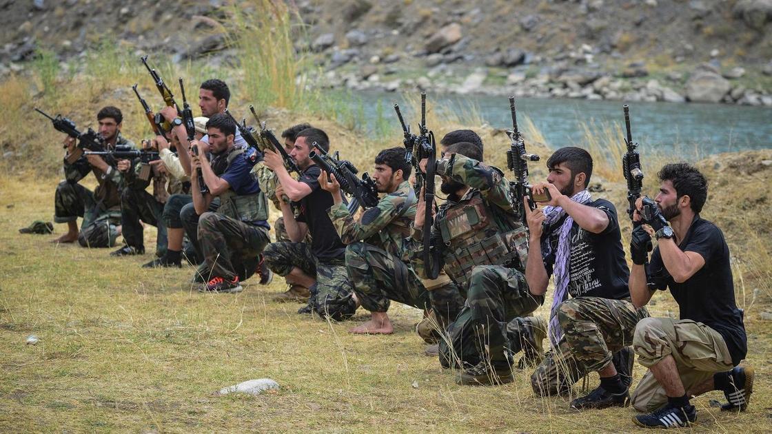 Тренировка афганцев против талибов