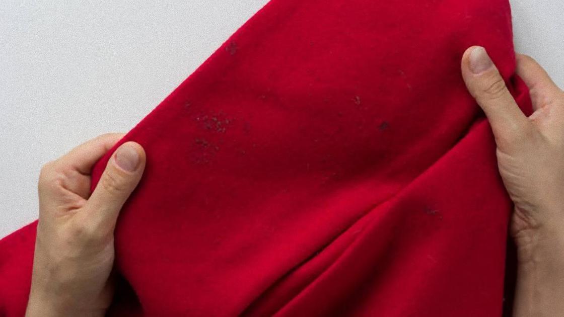 Пятна на красном пальто