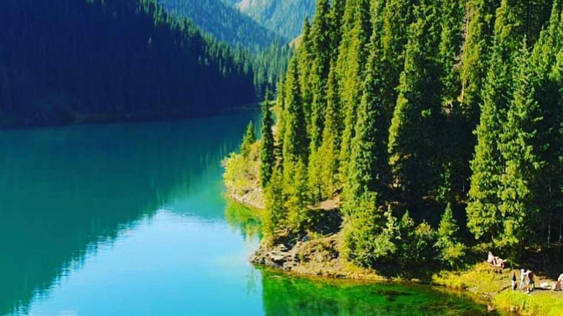 озеро горы лес