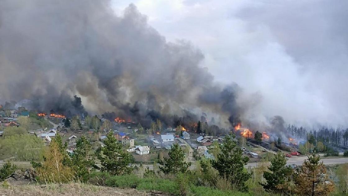 Лесной пожар в ВКО