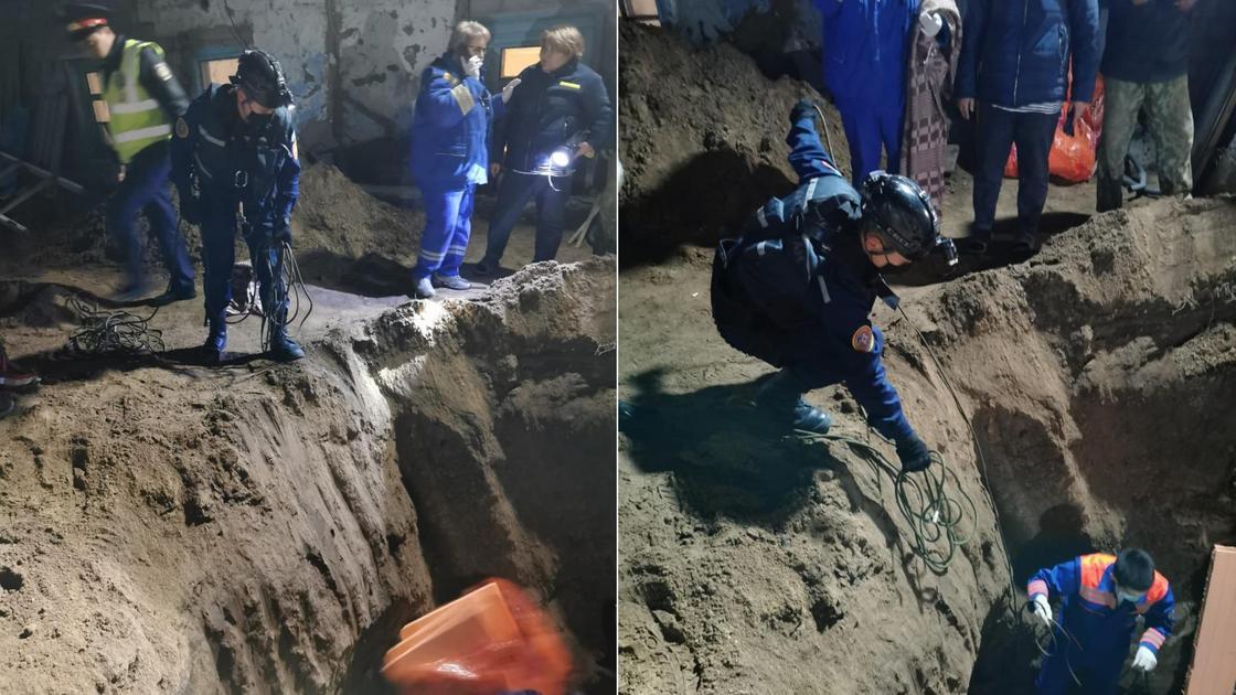 Мальчик провалился в яму в Павлодаре