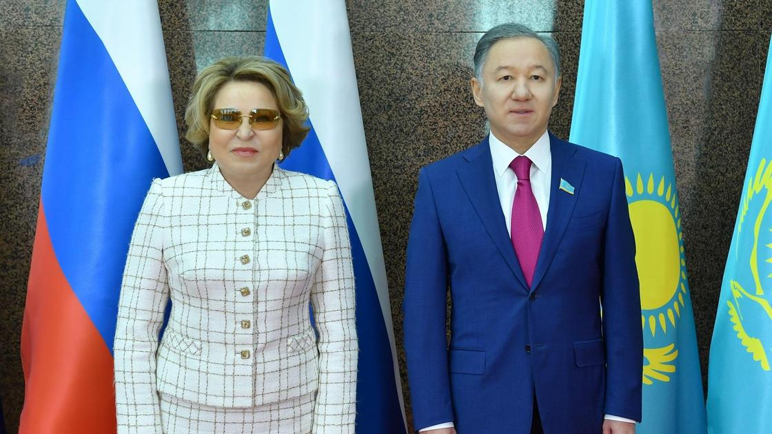 Нурлан Нигматулин и Валентина Матвиенко