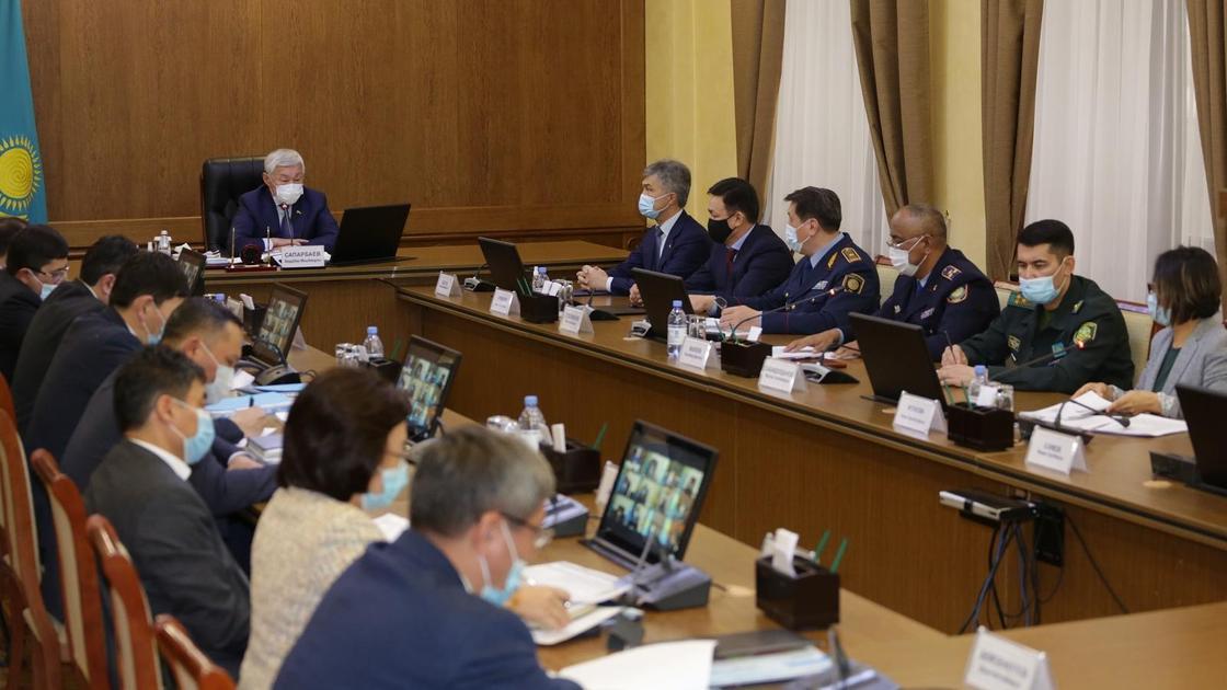 Заседание штаба в Кордайском районе