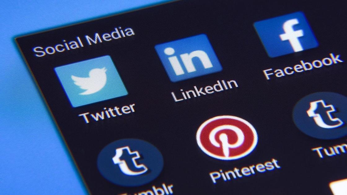 Иконки Facebook, Twitter, LinkedIn, Pinterest