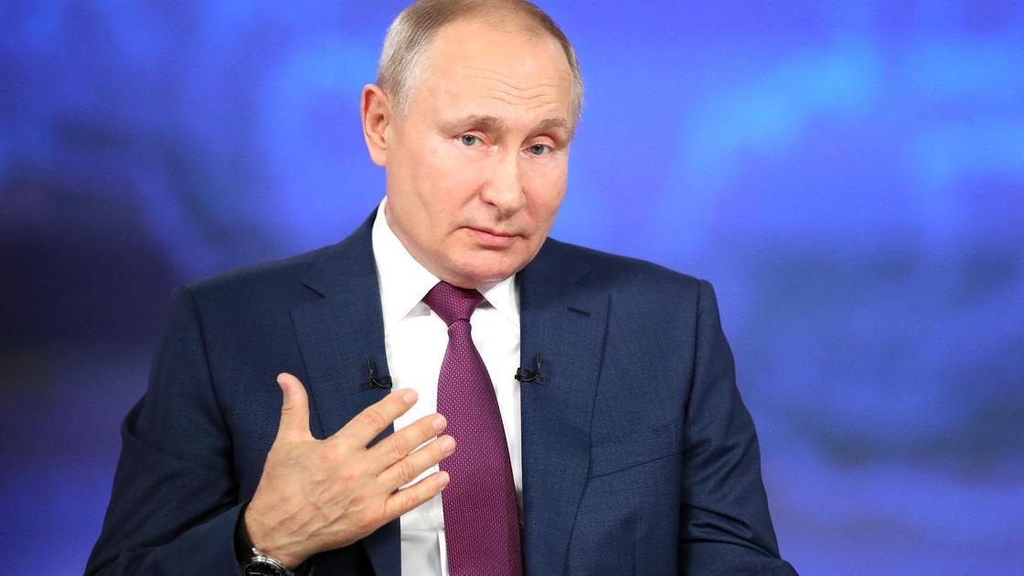 Владимир Путин на ежегодной прямой линии. Фото kremlin.ru