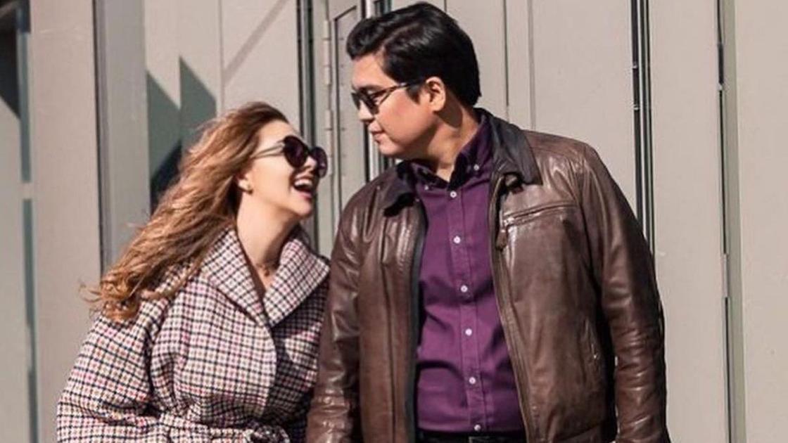 Майя Бекбаева с мужем