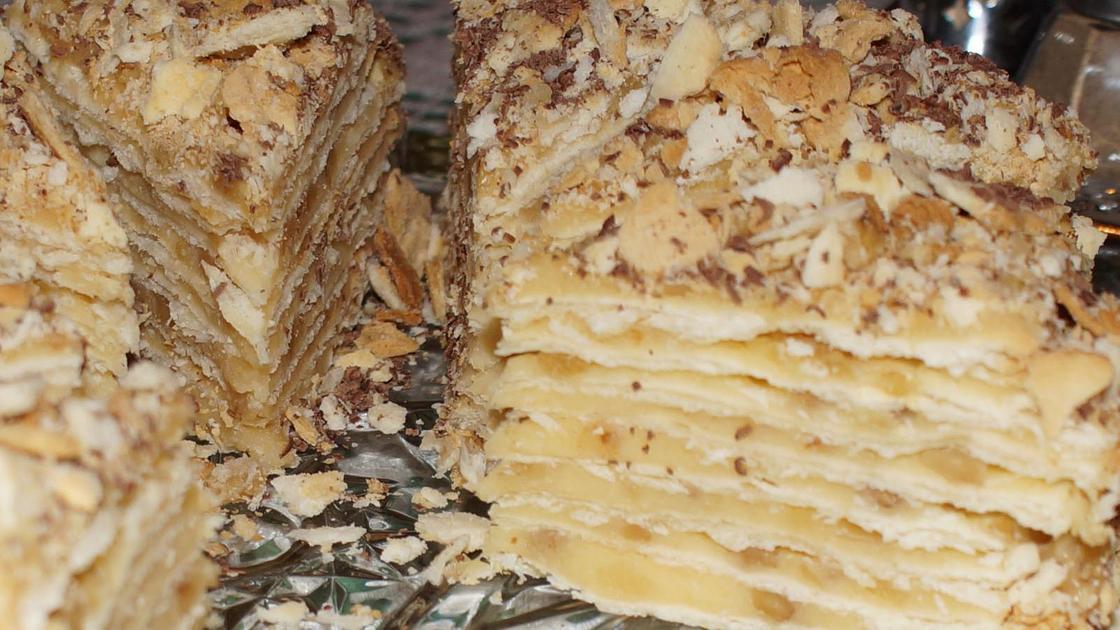 готовый Торт «Наполеон» в разрезе