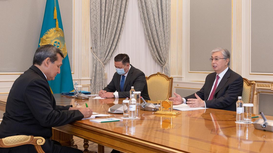 Касым-Жомарт Токаев принял замредседателя кабинета министров Туркменистана