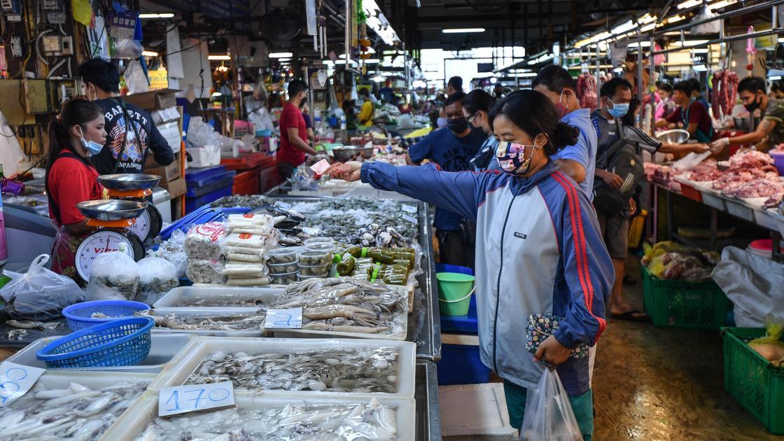 Рынок морепродуктов в Таиланде