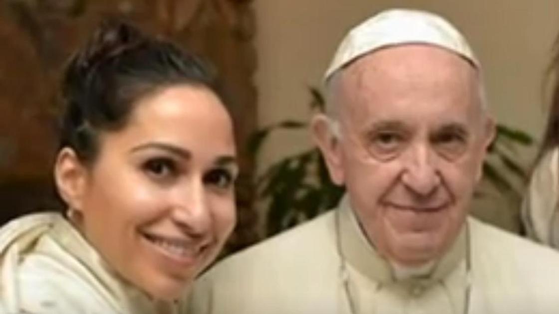 Светлана Касьян и Папа Римский
