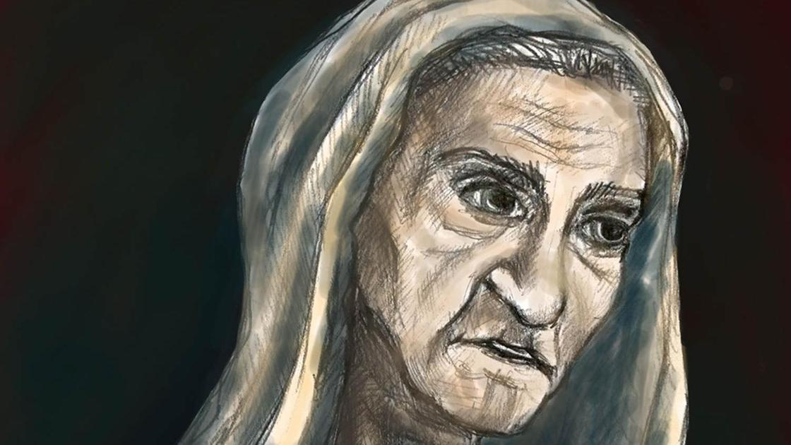 Старуха Изергиль (рисунок)