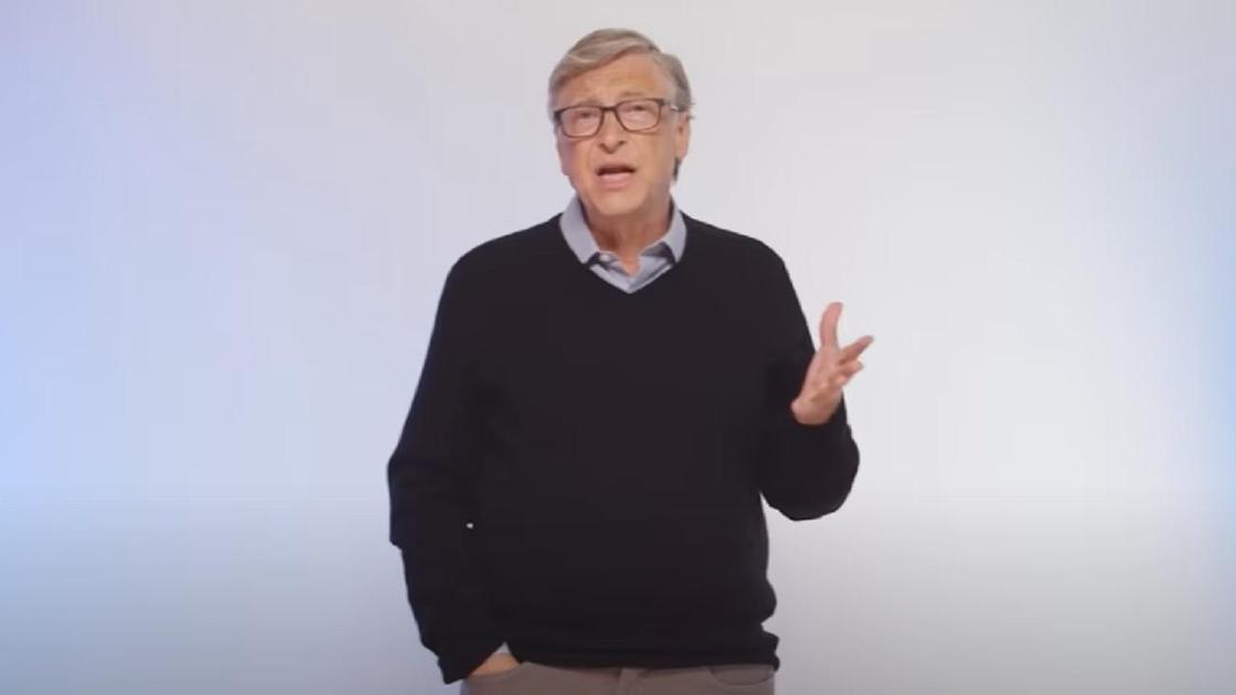 Билл Гейтс в черном свитере