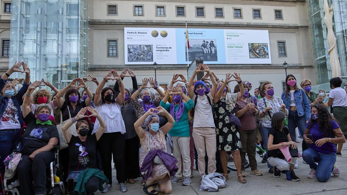 Акция в поддержку прав женщин в Испании